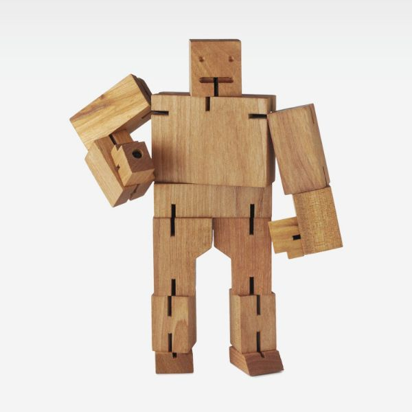 Picture of Wooden Robot Man Sculpture