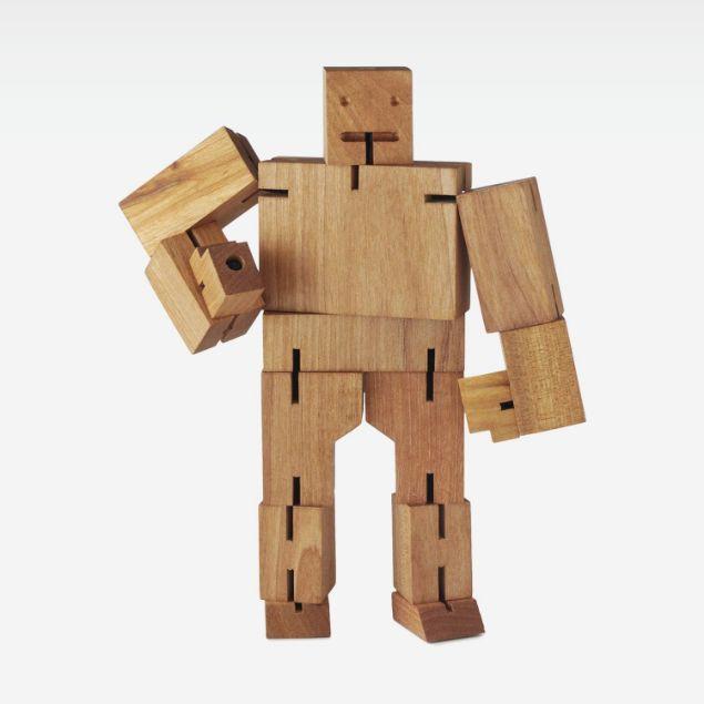 Picture of Wooden Robot Man Sculpture